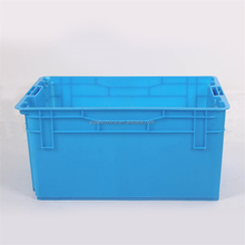 Seafood waterproof crate 20KGS loading capacity solid plastic fish crates