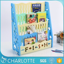 Hot sale best quality movable kid book shelf, small wall plastic shelf