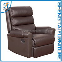 Modern comfortable soft leather recliner sofa good quality living room furniture