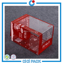 PVC/PP/PET Packaging Clear Plastic Makeup Box For Cosmetic