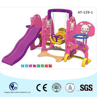 Home use sweet purple swing and slide combined for your baby girls!