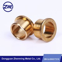 Custom flanged brass bushing , motorcycle spare part , cnc machining part