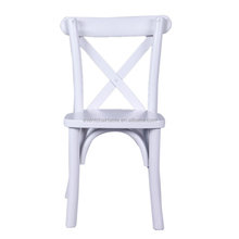 Beech Wood Stackable White Cross Back Kids Party Chair