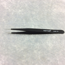 OEM ceramic smart tweezers eyelash extension tweezers kits