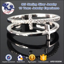 2017 New Products Jewellery Value 925 Sterling Silver Criss Cross Ring