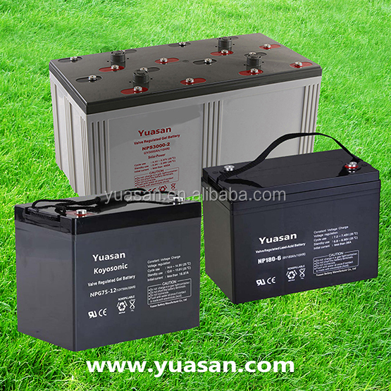 Yuasan Factory Rechargeable AGM 12V Sealed Lead Acid Battery for UPS -NP250-12(12V250AH)