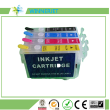 T1971 T1962-T1964 Refillable Cartridge With Reset Button Chip For Epson XP-201 XP-211 XP-204 XP-401 XP-411 XP-214 XP-101 WF-2532