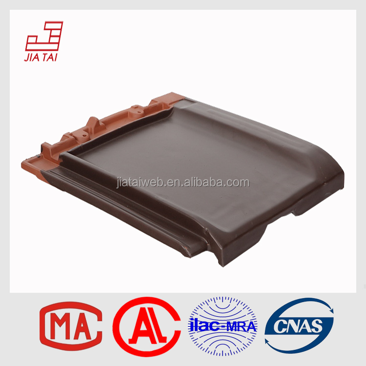 FT-853 water-proof plain flat clay roofing tiles