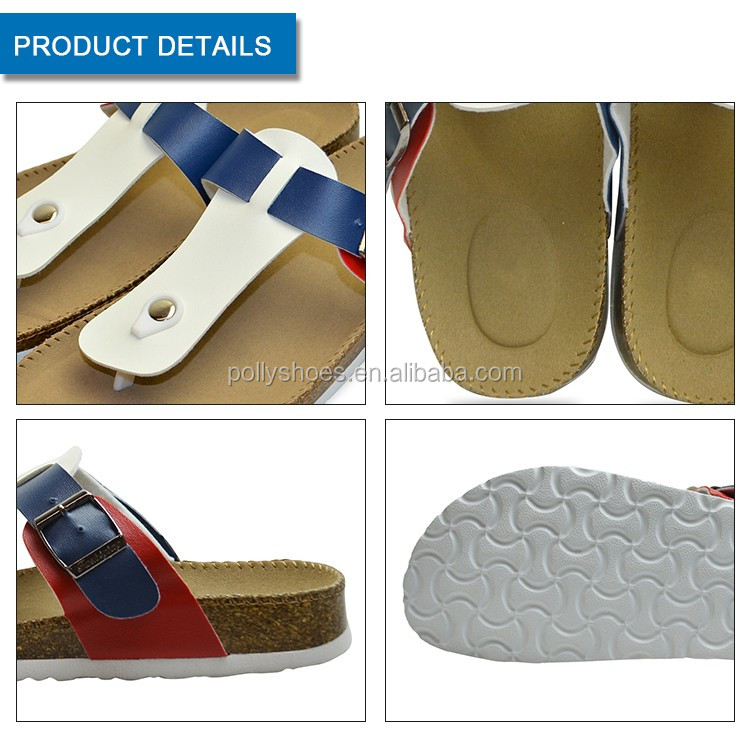 men Fashion Outdoor Wooden Cork Slippers Wholesale