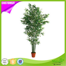 Factory direct price artificial lucky bamboo fence plants for outdoor