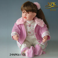 Hot sale silicone 24 inch realistic reborn baby doll dolls