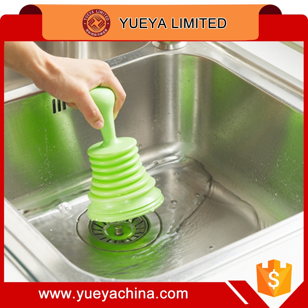 Sink Plunger Blocked Toilet Drain Sinks Unblock Pipe Cleaner Bathroom Kitchen-green
