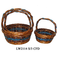 Hot wholesales christmas gift baskets empty for mini basket