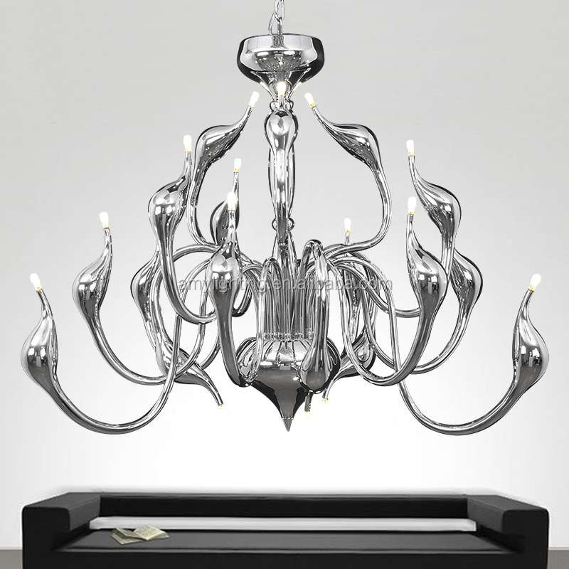 New Modern Luxury Swan Pendant Light Suspension Chandelier Ceiling Lamp