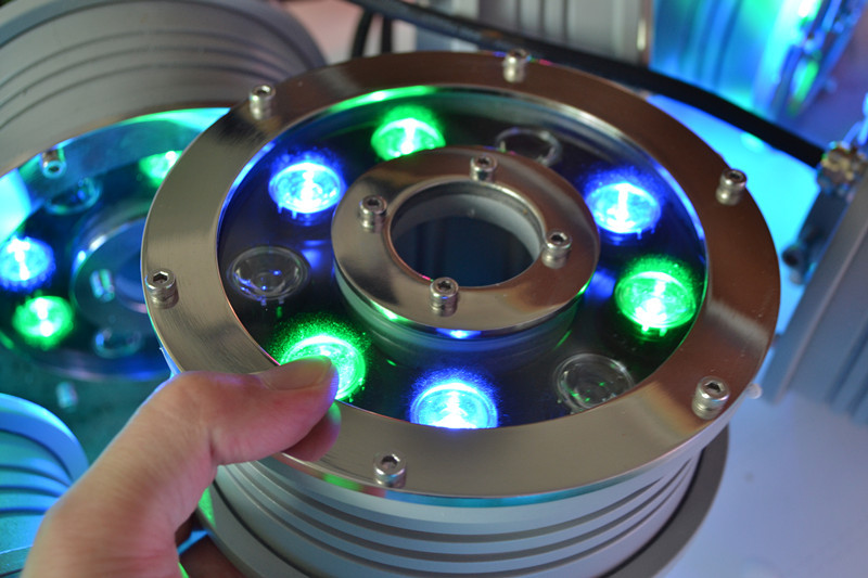 9X3w stainless steel rgb led underwater ring light with 3 Years warranty