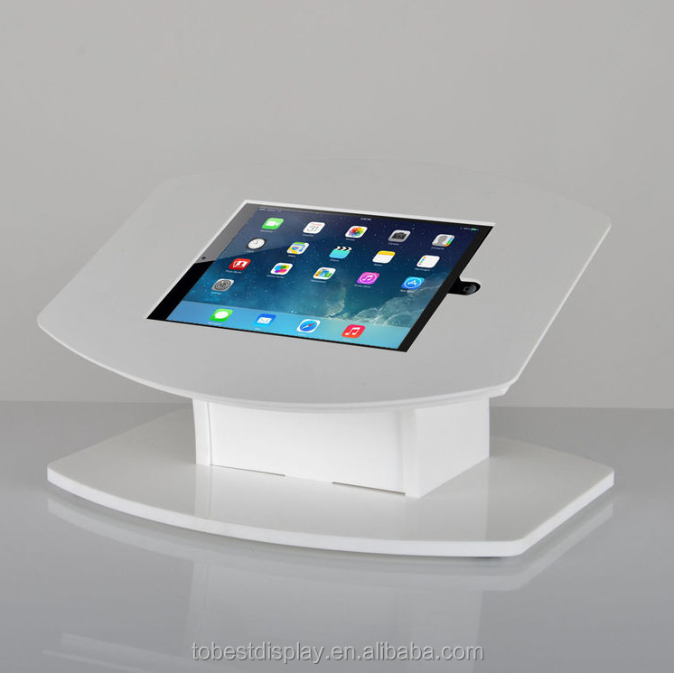 elegant white counter top acrylic ipad display holder,acrylic tablet stand,ipad display stand shenzhen factory
