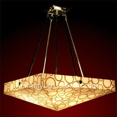 translucent colored resin pendant lamp shade for interior decoration building materials from
