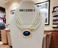 2015 latest Simple designed jewelry natural Seawater pearl necklace