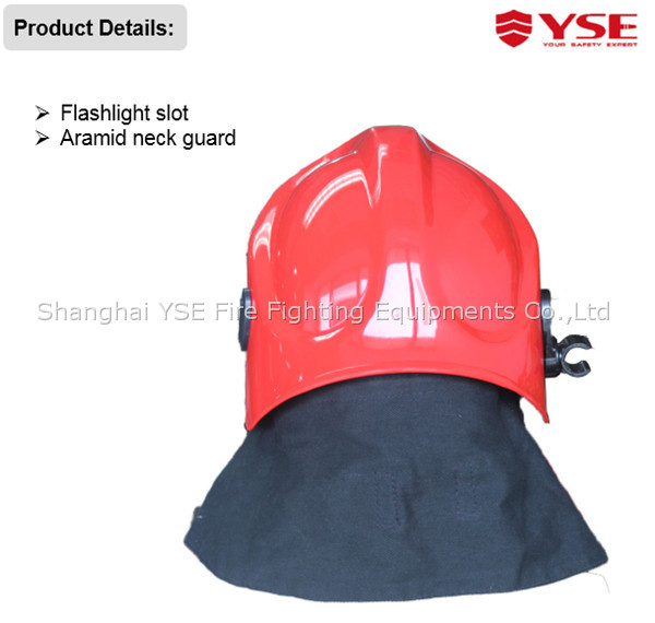 EN red Firefighter helmet