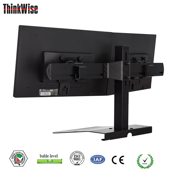 stand holder for office dual computer monitor mount free standing desk monitor bracket