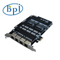240 Channels PCI Express Interface Asterisk card can be used as PRI / PRA ISDN PABX LAN router RI test equipment VOIP gateway