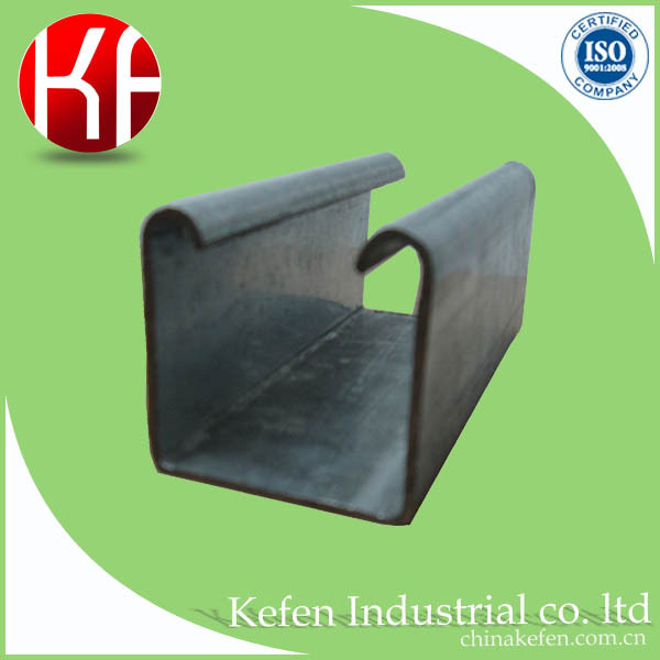 steel galvanized u shaped channel metal shelf brackets for wire/cable protection