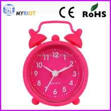 Colorful Funny Desk Clock Two Bell l Alarm Clock silicone mini Clock
