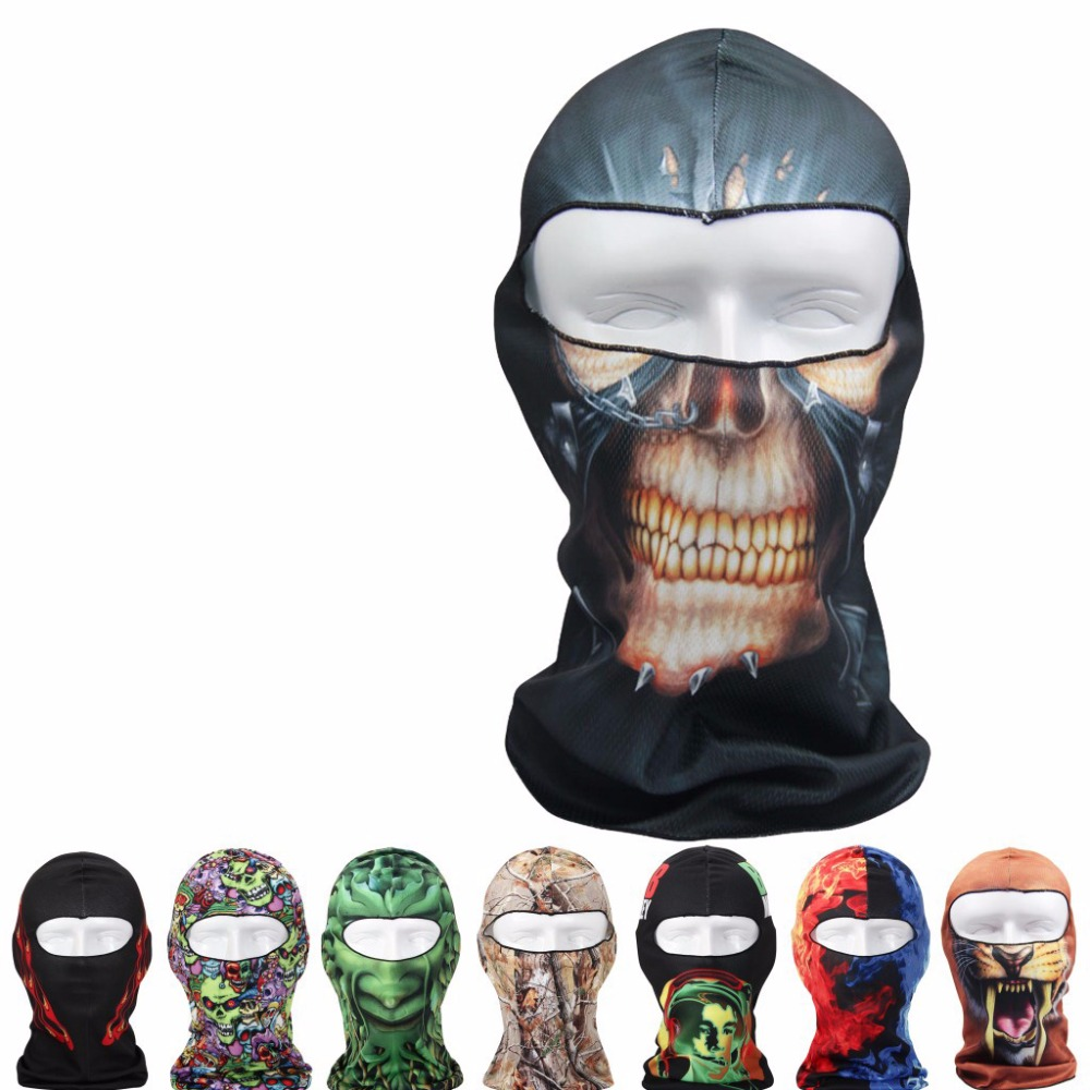 Outdoor cycling fishing full face custom printed face ski mask