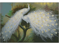 cross stitch sets white peacock cross stitch kits embroidery kit