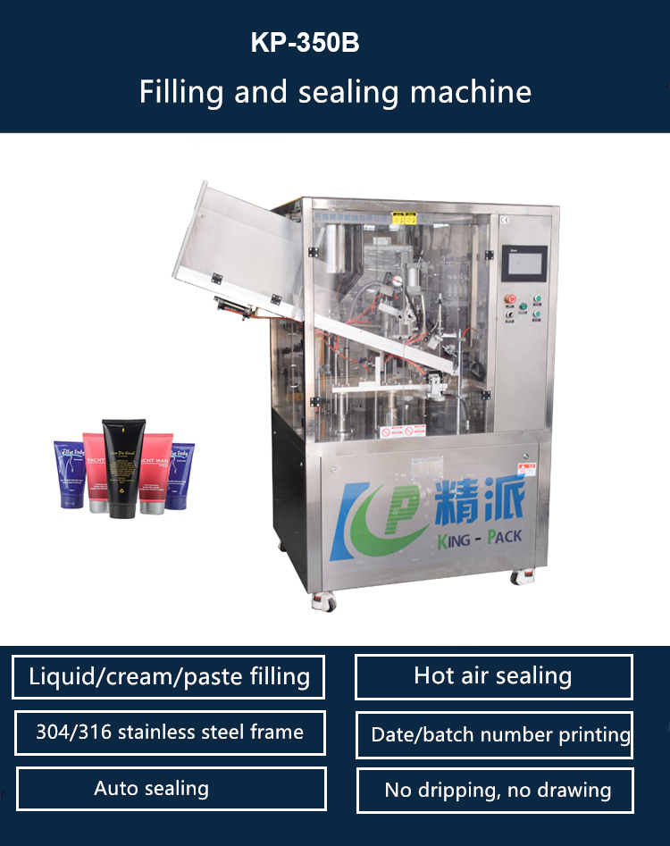 Automatic toothpaste , cosmetic , ointment plastic tube filling and sealing machine