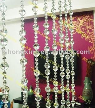 Door curtain acrylic beaded curtain buy door curtain for Cortinas de madera para puertas