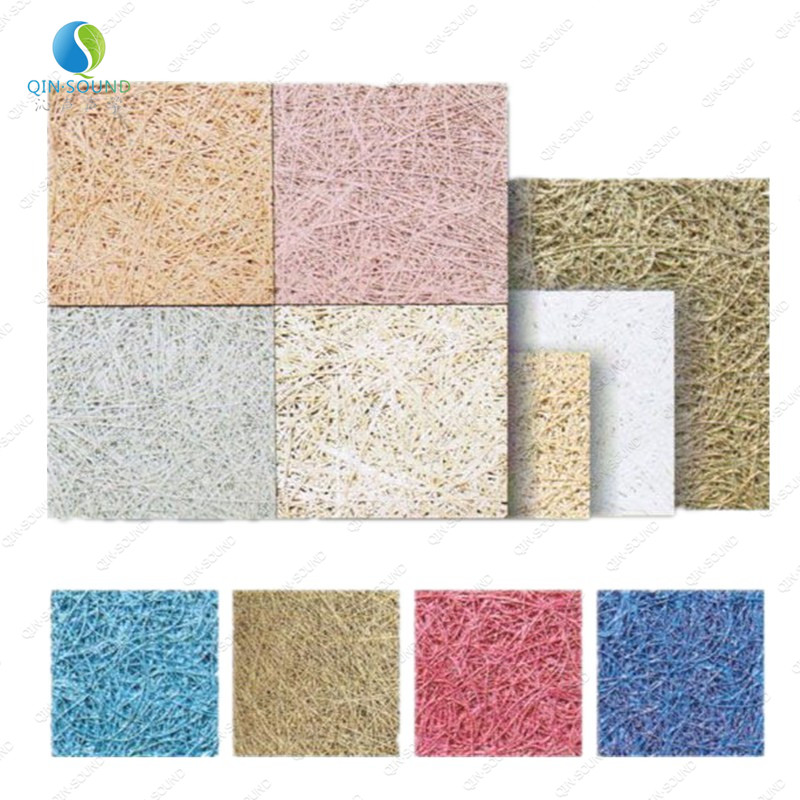 Sound Block Panel Soundproofing Board Micro Perforated Wood Wool Acoustic Panel
