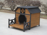 luxury wooden pet dog house kennel with porch for indoor outdoor
