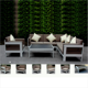 Factory audit passed outdoor Aluminium brushed polywood sofa modern outside furniture pool outdoor lounge