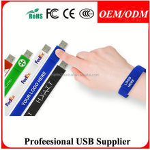 Multifunctional Silicone Bracelet USB LED Watch , Free sample