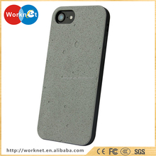 China factory wholesale real natural cement+pc cell phone hard case for iPhone 7 7Plus, for iPhone 7 Plus cement case