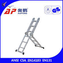 Folding Ladder Heavy Duty Multi Purpose Step Stool Extendable Ladder Aluminum four fold aluminium alloy joints ladder AP-403A