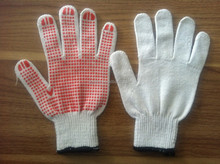 13G Dots nylon Garden Glove/nitrile dotted palm gloves