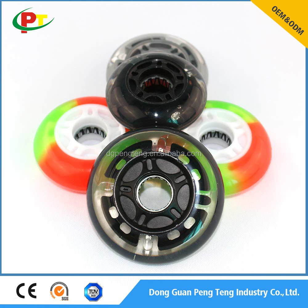 Fashion 60 - 90mm Flashing PU wheel for in - line skate / luggage
