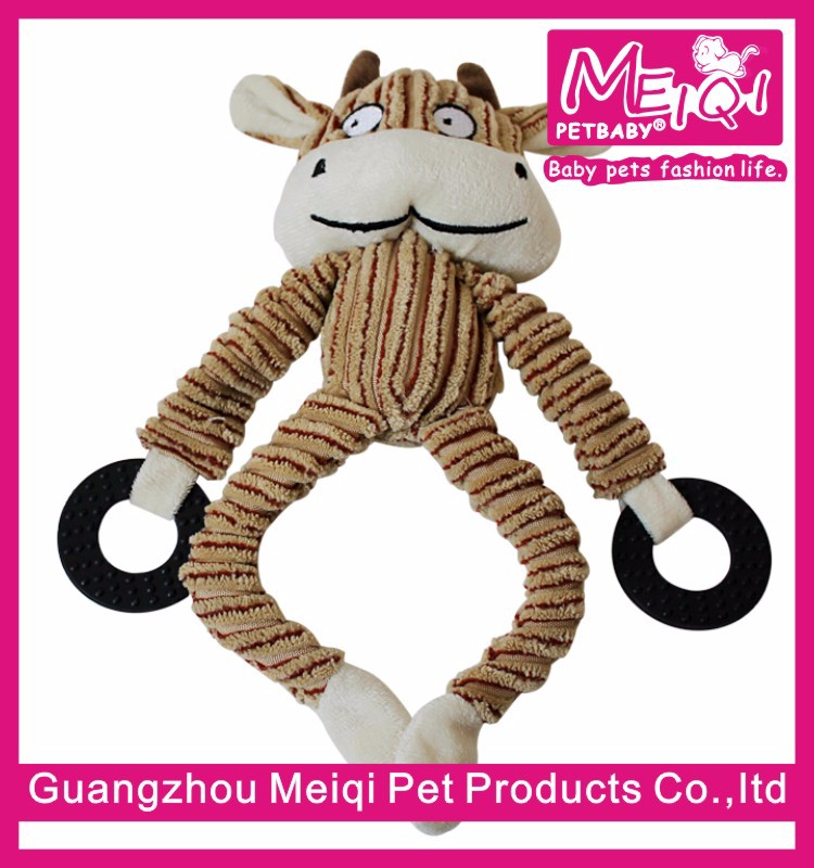 Lovable dog chew toy lucky dog animal plush dog toy squeakers wholesale toy dog