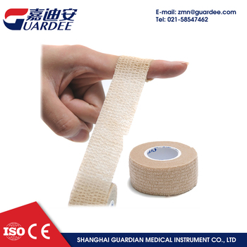"Colored flexible finger 1""*5yards nonwoven cohesive bandage"