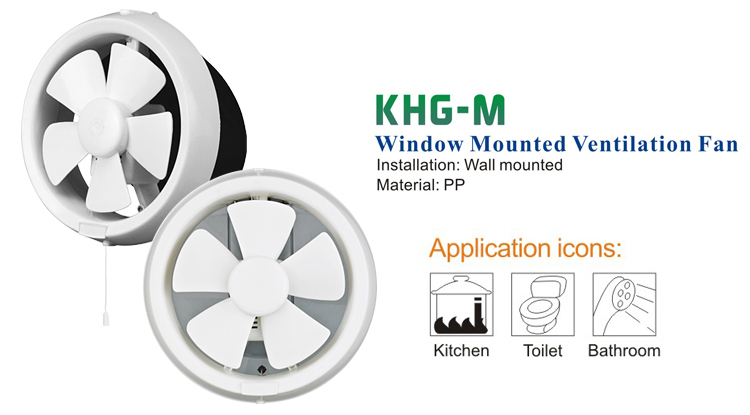 Round Window-mounted Extractor Fan (KHG20-M)