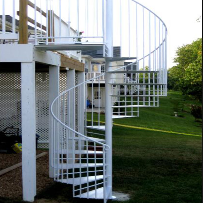 New Design Exterior Stainless Steel Spiral Staircase / Outdoor Metal Stairs