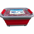 plastic collapsible storage box with wheel silicone storage box container