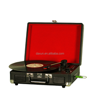 Portable Bluetooth and USB suitcase turntable