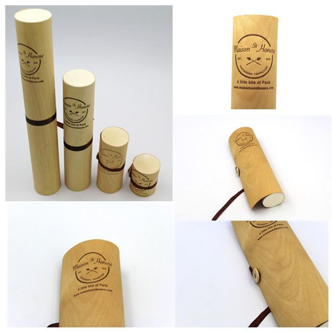 Macarons birch veneer  packing box