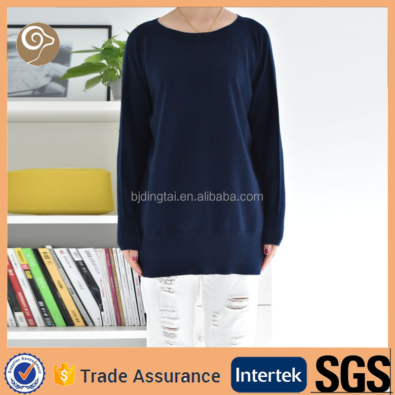 Women O neck best cashmere sweater 2013