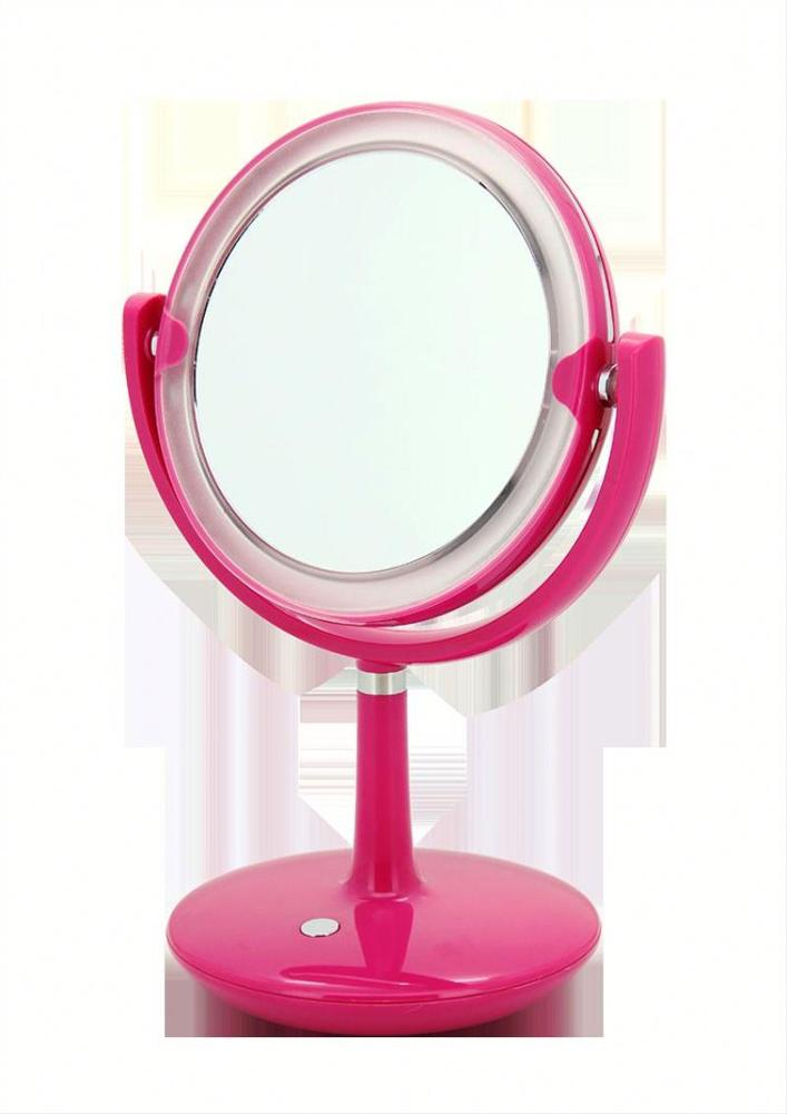 Hot selling personalized professional Single side round makeup mirror with LED lights