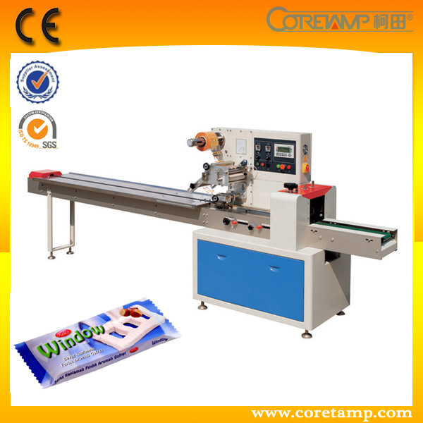 Flow automatic wafer biscuit packing machine