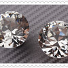 Crystal Glass Diamond Shape Knob Cupboard